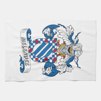 Escudo de la familia de Melendez Toallas De Mano