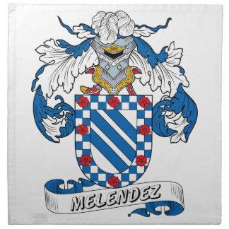 Escudo de la familia de Melendez Servilletas Imprimidas