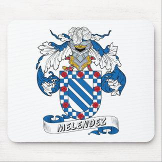 Escudo de la familia de Melendez Alfombrillas De Ratón