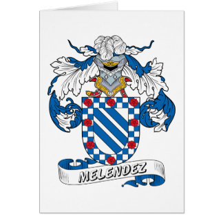 Escudo de la familia de Melendez Tarjetón