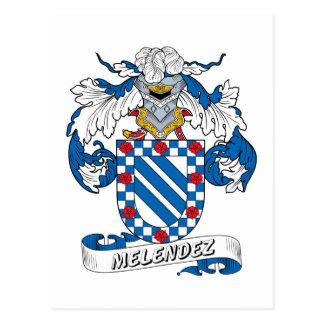 Escudo de la familia de Melendez Postal