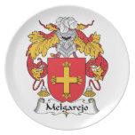 Escudo de la familia de Melgarejo Platos Para Fiestas
