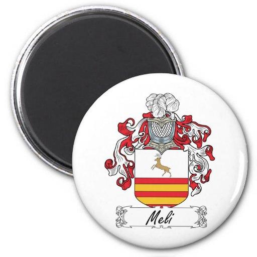 Escudo de la familia de Meli Imán Redondo 5 Cm
