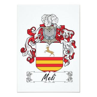 """Escudo de la familia de Meli Invitación 5"""" X 7"""""""