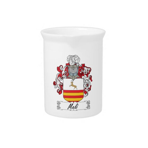 Escudo de la familia de Meli Jarras Para Bebida