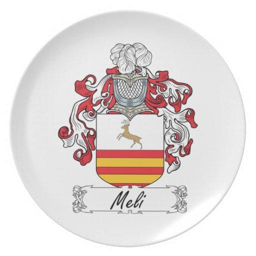 Escudo de la familia de Meli Platos