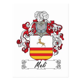 Escudo de la familia de Meli Postales