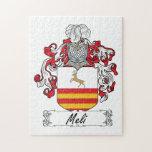 Escudo de la familia de Meli Puzzles Con Fotos