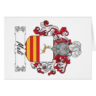 Escudo de la familia de Meli Tarjeta De Felicitación