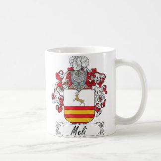 Escudo de la familia de Meli Taza De Café