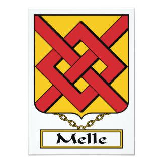 """Escudo de la familia de Melle Invitación 4.5"""" X 6.25"""""""