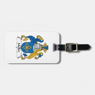 Escudo de la familia de Meller Etiqueta De Equipaje