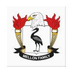 Escudo de la familia de Mellon Lona Envuelta Para Galerias