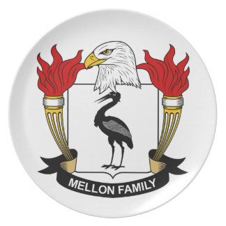 Escudo de la familia de Mellon Platos Para Fiestas