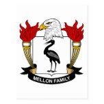 Escudo de la familia de Mellon Tarjetas Postales