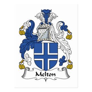 Escudo de la familia de Melton Postales