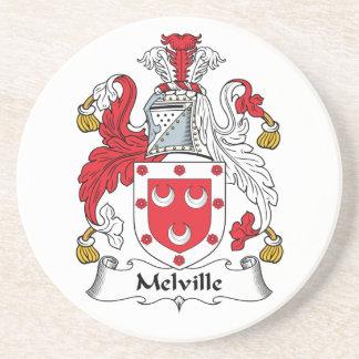 Escudo de la familia de Melville Posavasos Para Bebidas