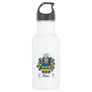 Escudo de la familia de Memmo Botella De Agua De Acero Inoxidable