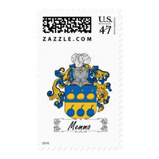 Escudo de la familia de Memmo Sello Postal