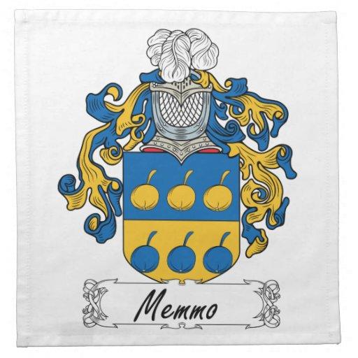 Escudo de la familia de Memmo Servilleta De Papel