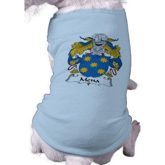Escudo de la familia de Mena Camisetas De Perro