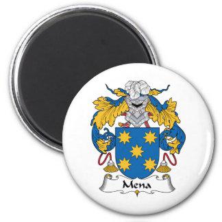 Escudo de la familia de Mena Imán Redondo 5 Cm