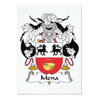 """Escudo de la familia de Mena Invitación 5"""" X 7"""""""