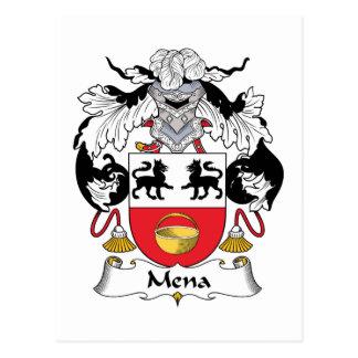 Escudo de la familia de Mena Tarjeta Postal