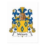 Escudo de la familia de Menard Postales