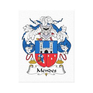 Escudo de la familia de Mendes Impresion De Lienzo