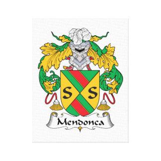 Escudo de la familia de Mendonca Impresión En Lienzo