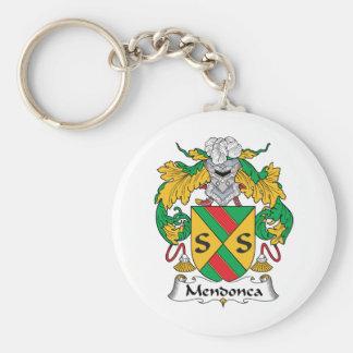 Escudo de la familia de Mendonca Llavero Redondo Tipo Pin