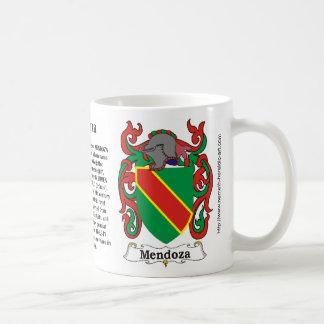 Escudo de la familia de Mendoza en una taza