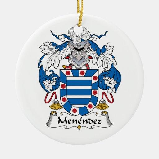 Escudo de la familia de Menéndez Adorno Redondo De Cerámica