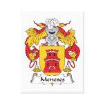 Escudo de la familia de Meneses Lona Envuelta Para Galerias