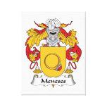 Escudo de la familia de Meneses Impresión En Lienzo Estirada