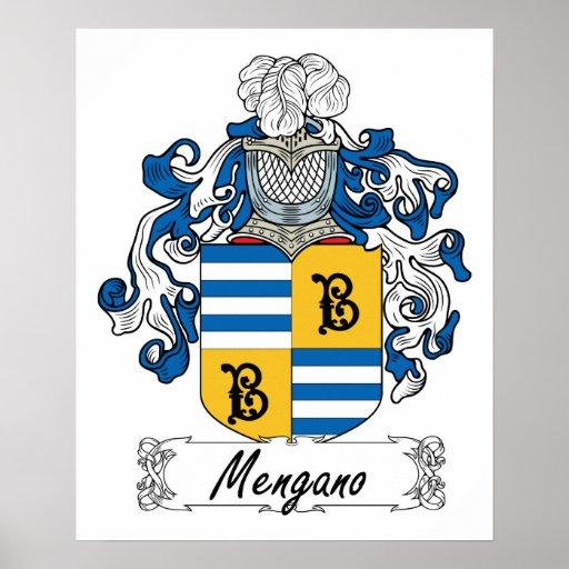 Escudo de la familia de Mengano Póster