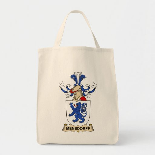 Escudo de la familia de Mensdorff Bolsa Tela Para La Compra