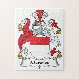 Escudo de la familia de Menzies Rompecabeza Con Fotos