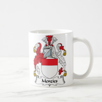Escudo de la familia de Menzies Tazas De Café