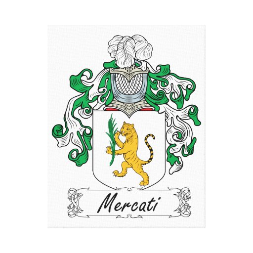 Escudo de la familia de Mercati Impresión En Lienzo Estirada