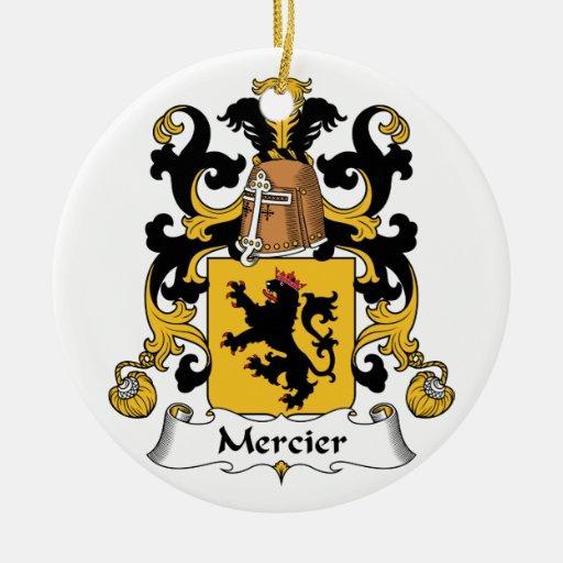 Escudo de la familia de Mercier Ornamento Para Reyes Magos