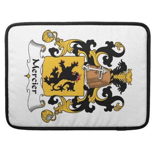 Escudo de la familia de Mercier Fundas Macbook Pro