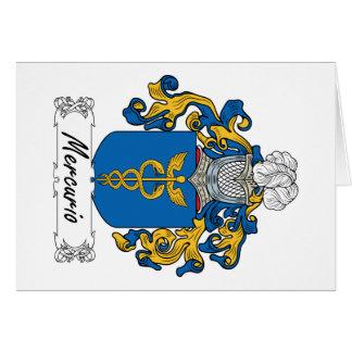 Escudo de la familia de Mercurio Tarjeta De Felicitación