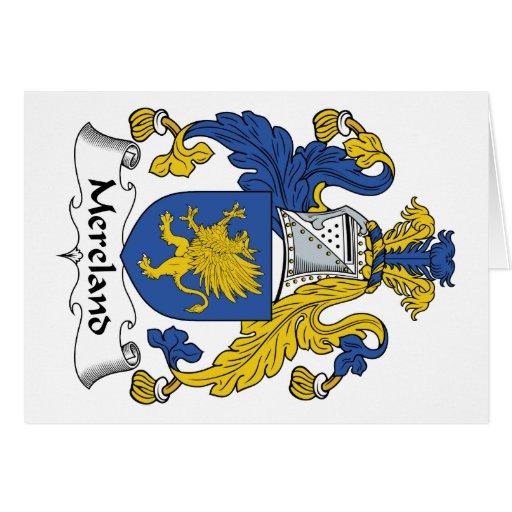Escudo de la familia de Mereland Tarjeta De Felicitación