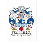 Escudo de la familia de Mergulhao Tarjetas Postales
