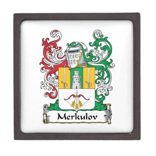 Escudo de la familia de Merkulov Caja De Regalo De Calidad