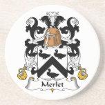 Escudo de la familia de Merlet Posavasos Para Bebidas