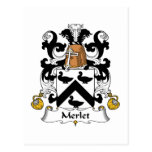 Escudo de la familia de Merlet Postal