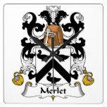 Escudo de la familia de Merlet Reloj